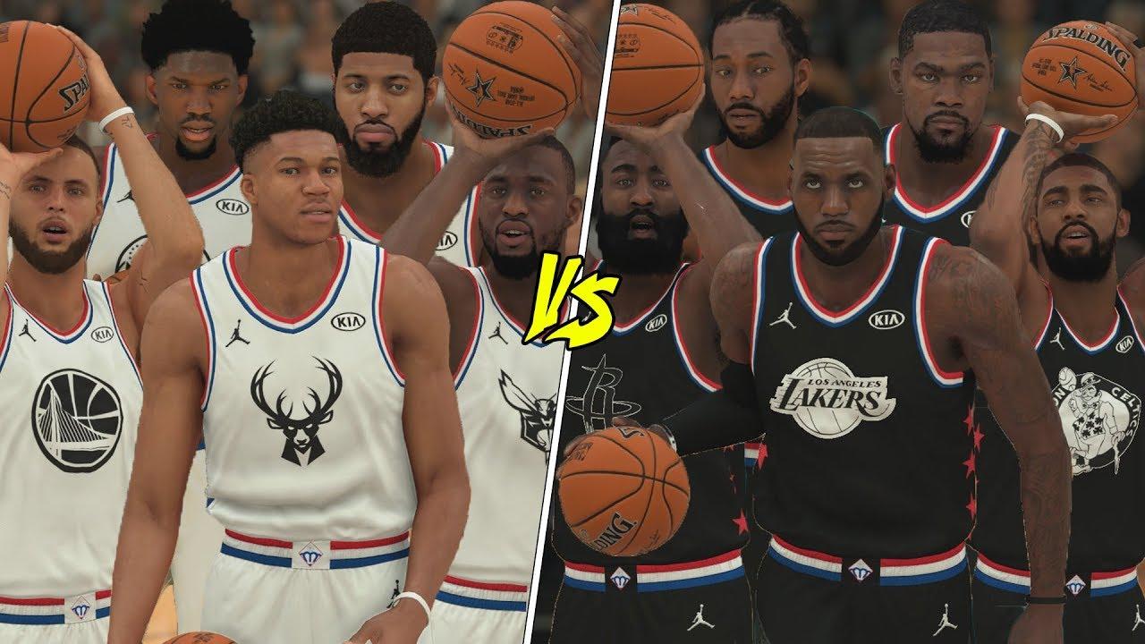 2019 Nba All Star Game In Nba 2k19 Youtube