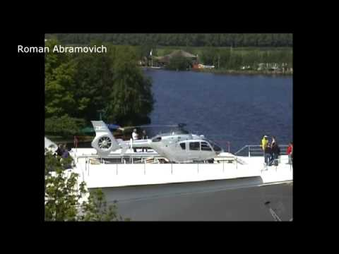 Abramovich Testing helicopter Garage  Super Yacht