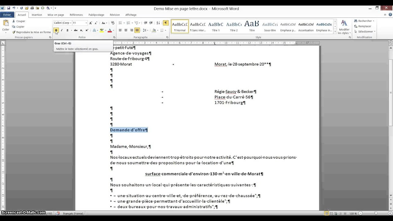 lettre word mise en page Tutoriel Word Mise en page lettre   YouTube lettre word mise en page