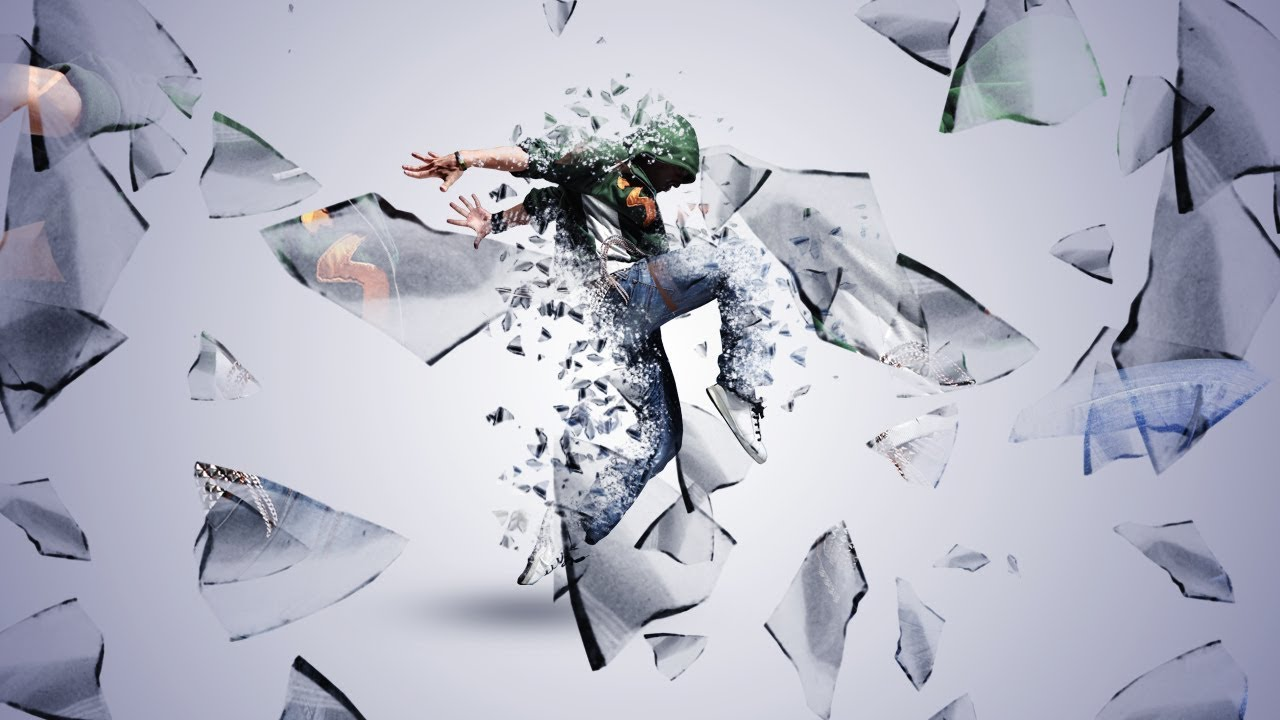 Shatter Glass Dispersion Effect Photoshop Tutorial Cs6