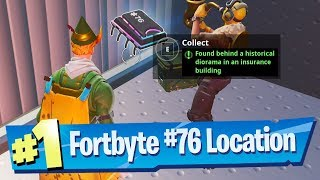 Fortnite Fortbyte #76 Location - Found behind a Historical Diorama in an Insurance Building