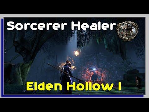 Elden Hollow Dungeon First Time - Sorcerer Healer PVE - Elder Scrolls Online Gameplay