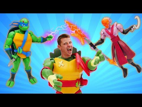 Новые классные игрушки - Черепашки ниндзя спасают город! - Видео распаковка для мальчиков