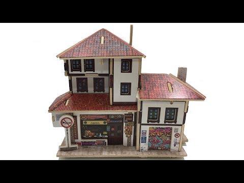 DIY Miniature Global Style House F143 Souvenir Store ~ Rolife 3D Wooden Puzzle