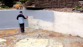 Гидроизоляция стен Жидкой Резиной(сайт - http://okraska-profi.com.ua/ Гидроизоляция стен Жидкой Резиной
