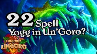 🍀🎲 22 Spell Yogg? Journey to Un'Goro ~ Hearthstone Heroes of Warcraft