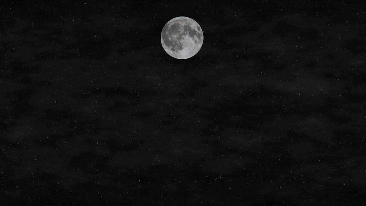 【動画素材】満月の夜空