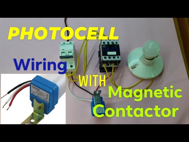 photocell w/ magnetic contactor wiring and diagram for