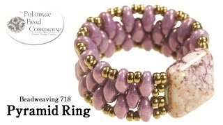 Make a Pyramid Bead Ring