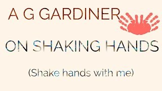 On Shaking Hands by AG Gardiner in Telugu