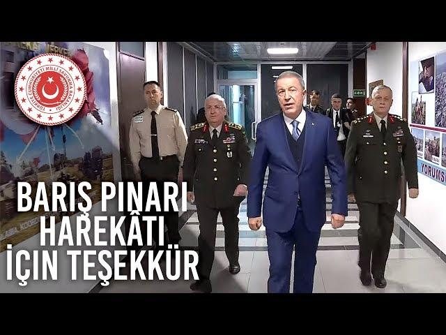 Bakan Akar'dan Barış Pınarı Harekâtı İçin Teşekkür
