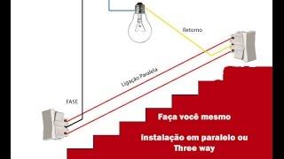 Como fazer ligaçãoTHREE WAY- interruptor paralelo