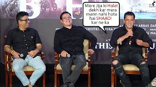 Salman Khan Make's Fun Of Atul Agnihotri Infront Of Media @ Zinda Song Launch
