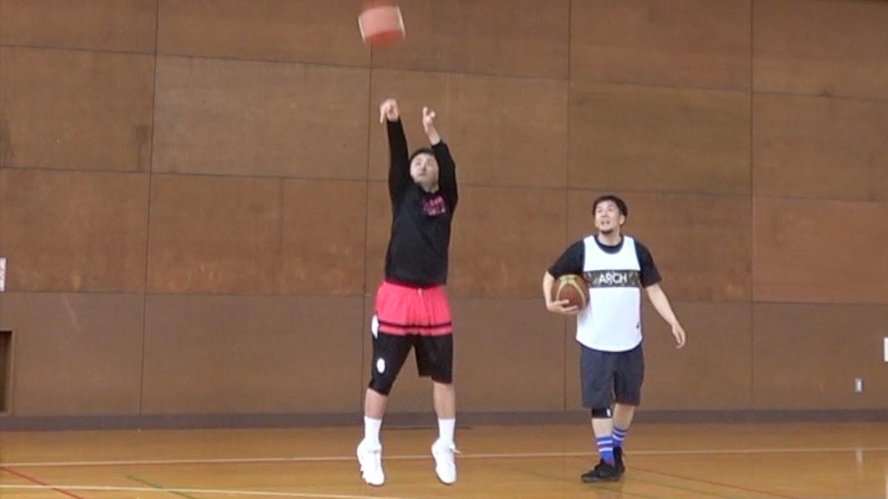 【バスケ】シュートめっちゃ入る人と3ポイント勝負したら両者一歩も譲らずw