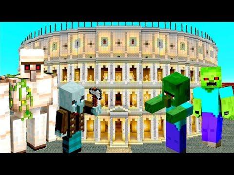 Майнкрафт Мобы – гладиаторы Колизея! Видео обзор игры.