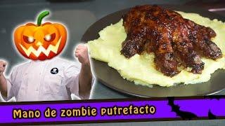 Mano de zombie putrefacto - Receta Halloween