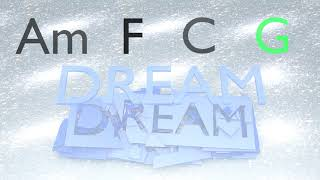 shattered dream - backing track: am f c g