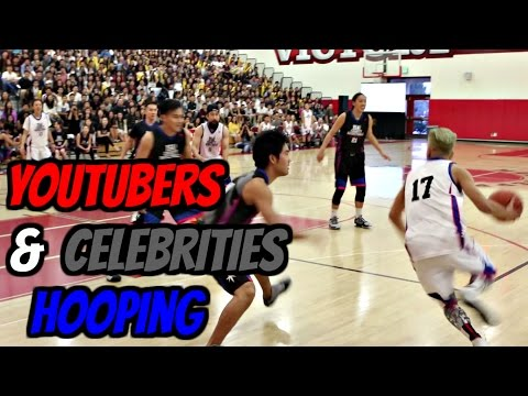 HOOPING W/ FAMOUS YOUTUBERS AND CELEBRITIES!! - ISA Charity Basketball Game