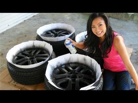 How to Plasti Dip Car Rims - Matte Black Wheels