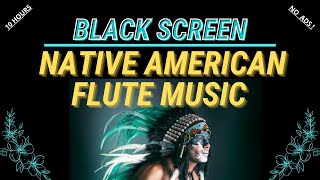 Black Screen Native American Flute Music with Drums, Rain & Thunder Sounds for Sleeping | 10 Hours