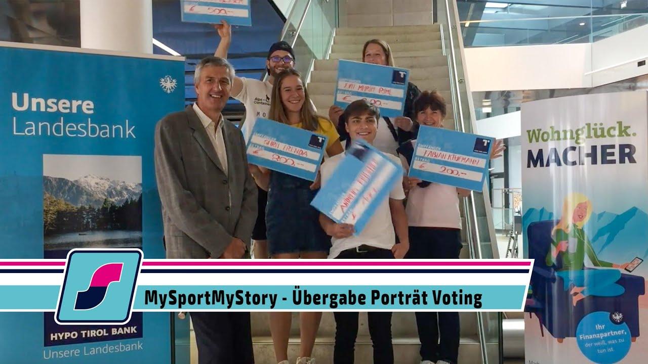 MySportMy Story Voting - Übergabe Porträt Voting