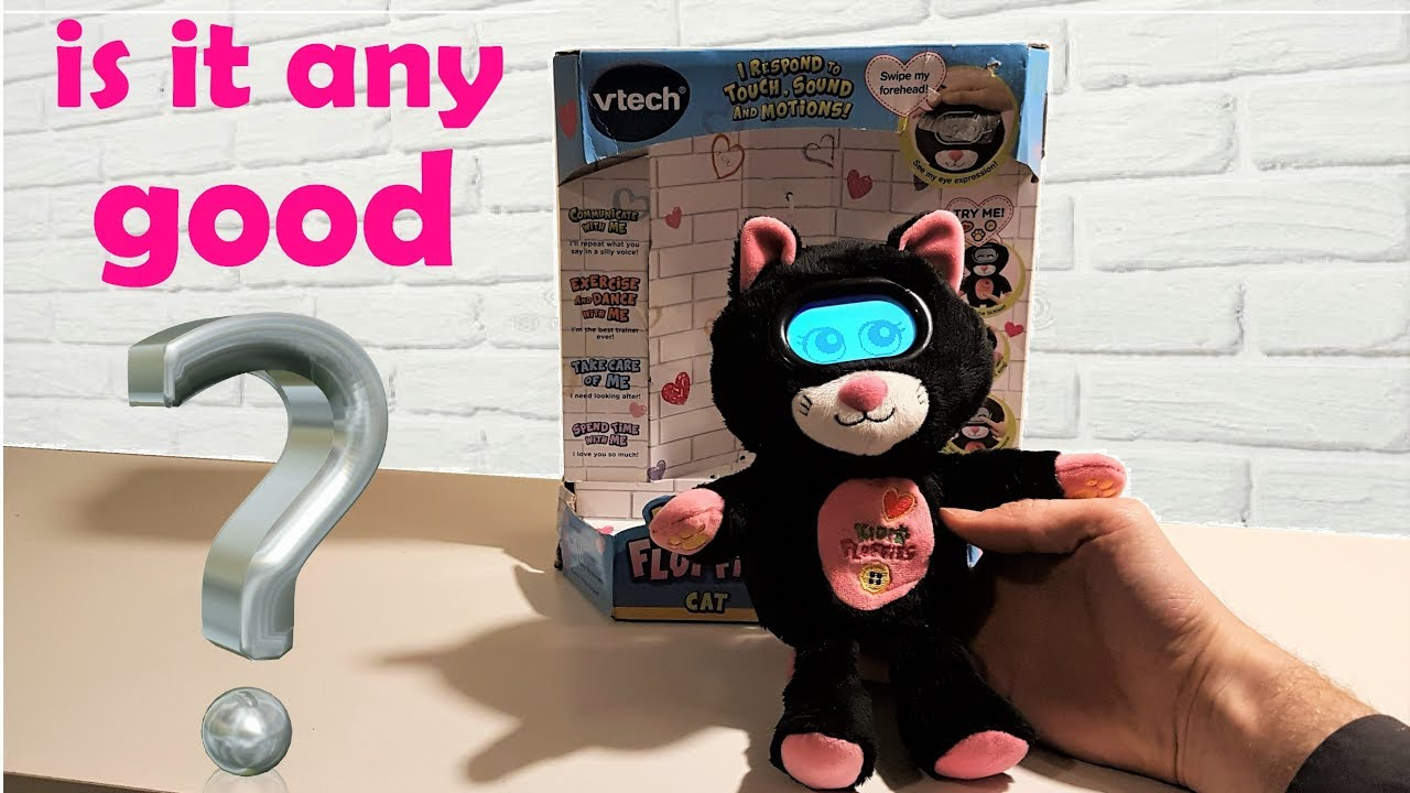 Vtech Kidifluffies Cat Interactive Toy Pet Review Youtube