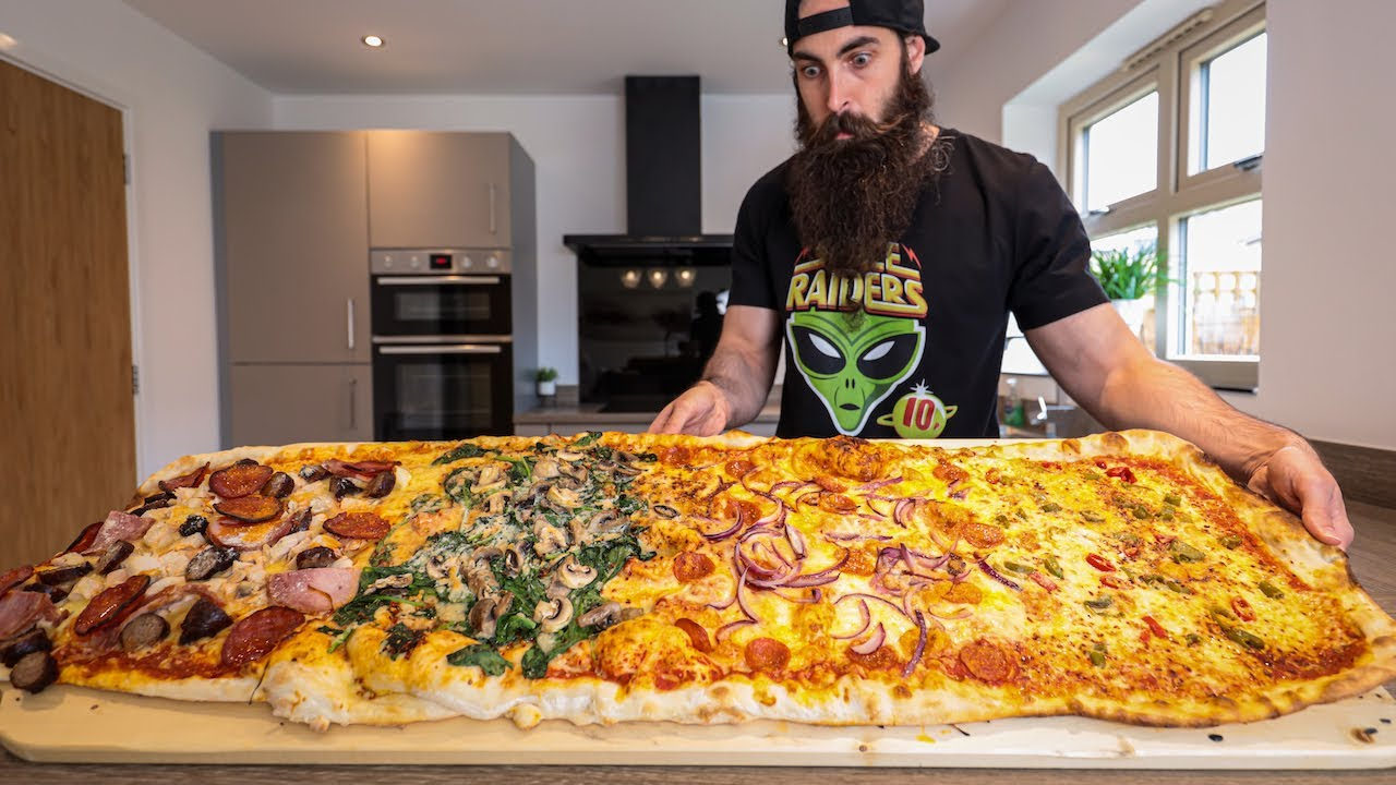 THE METRE PIZZA CHALLENGE | BeardMeatsFood