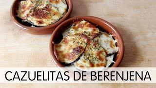 Cazuelas de berenjenas con jamón y queso