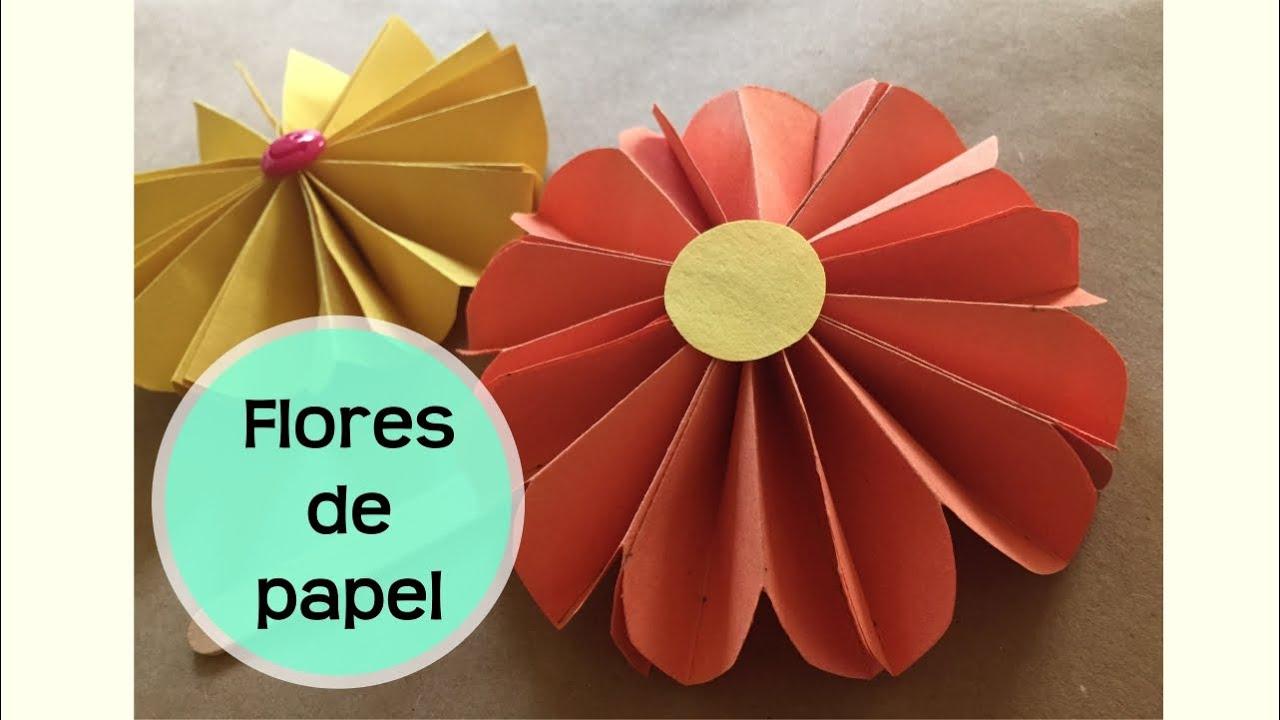 C mo hacer flores de papel flor de origami youtube - Como hacer flores ...