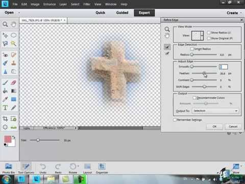 Learn how to use Photoshop Elements 11 - Part 51 - Refine Edge and Feathering Tools