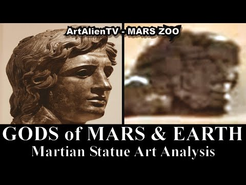 #GODS of MARS & EARTH - Martian Statue Art Analysis. ArtAlienTV - 1080p