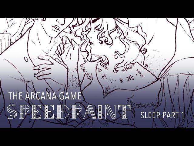 Sleep part 1 lineart | Julian, Asra & fan apprentice | The Arcana