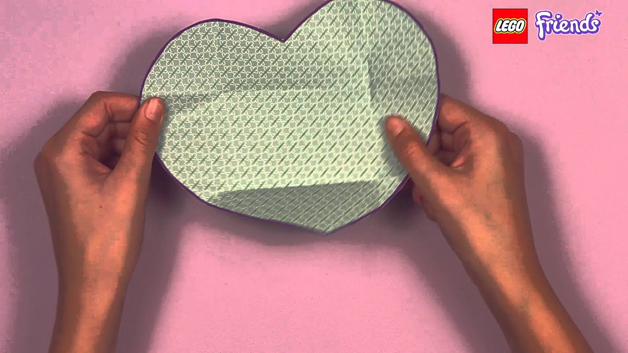 Lego Friends How To Create Heart Card Youtube