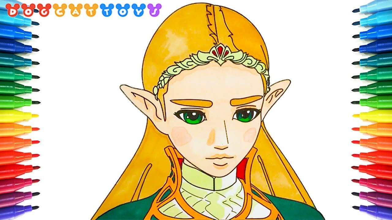 How To Draw The Legend Of Zelda Breath Of The Wild Zelda 144 Coloring Pages Videos For Kids Youtube