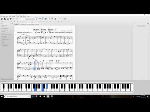 Emma's Song - Track 05 - Once Upon a Time - Piano Tutorial - Music Sheets