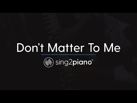 Don't Matter To Me (Piano Karaoke Instrumental) Drake & Michael Jackson