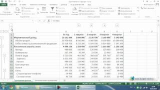 Группировка и структура данных в Excel