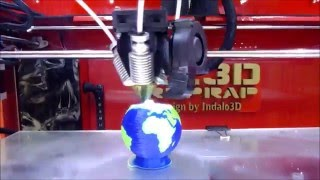 Dual Color, Hello World!!!- Diamond Hotend Dual Extruder 3D Printer DIY XL3D RepRap In Action!