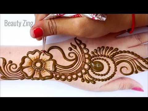 Eid Special Shaded Arabic Mehndi Design 2020 - आसान मेहँदी लगाना सीखे -Stylish Floral  Mehndi Design