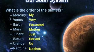 Review for Quiz over Solar System and the Sun
