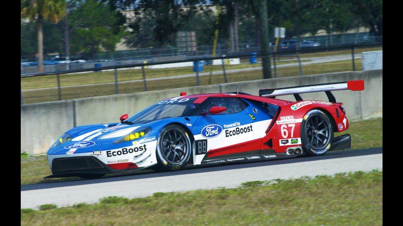 Imsa Gtlm Ford Gt Ganassi Racing Testing Sebring