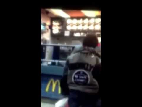 Man goes off on McDonalds employee! Crazy! Super funny! Rant at McDonalds!