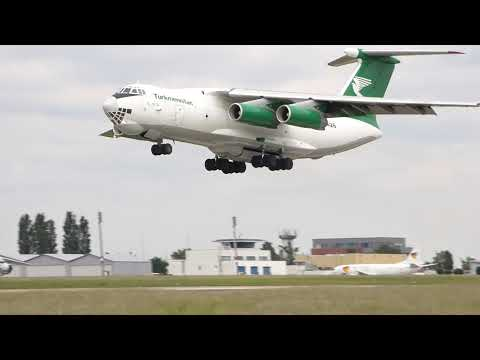 Turkmenistan IL-76 take off BRQ