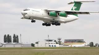 Turkmenistan IL-76 take off BRQ