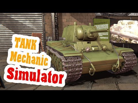 Ключ на старт, заводим КВ-1 Что пойдет не так? - ч18 Tank Mechanic Simulator