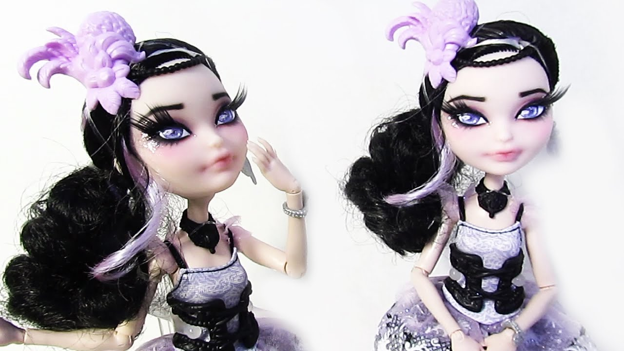 Duchess swan doll repaint ever after high youtube