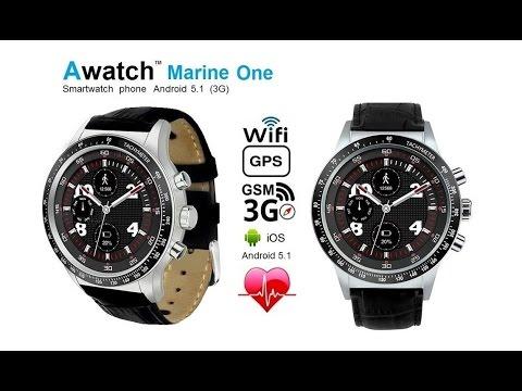 """Awatch Marine"" VS ""Awatch Marine One"" best 3G smartwatch phones Android 5.1 round  2017"