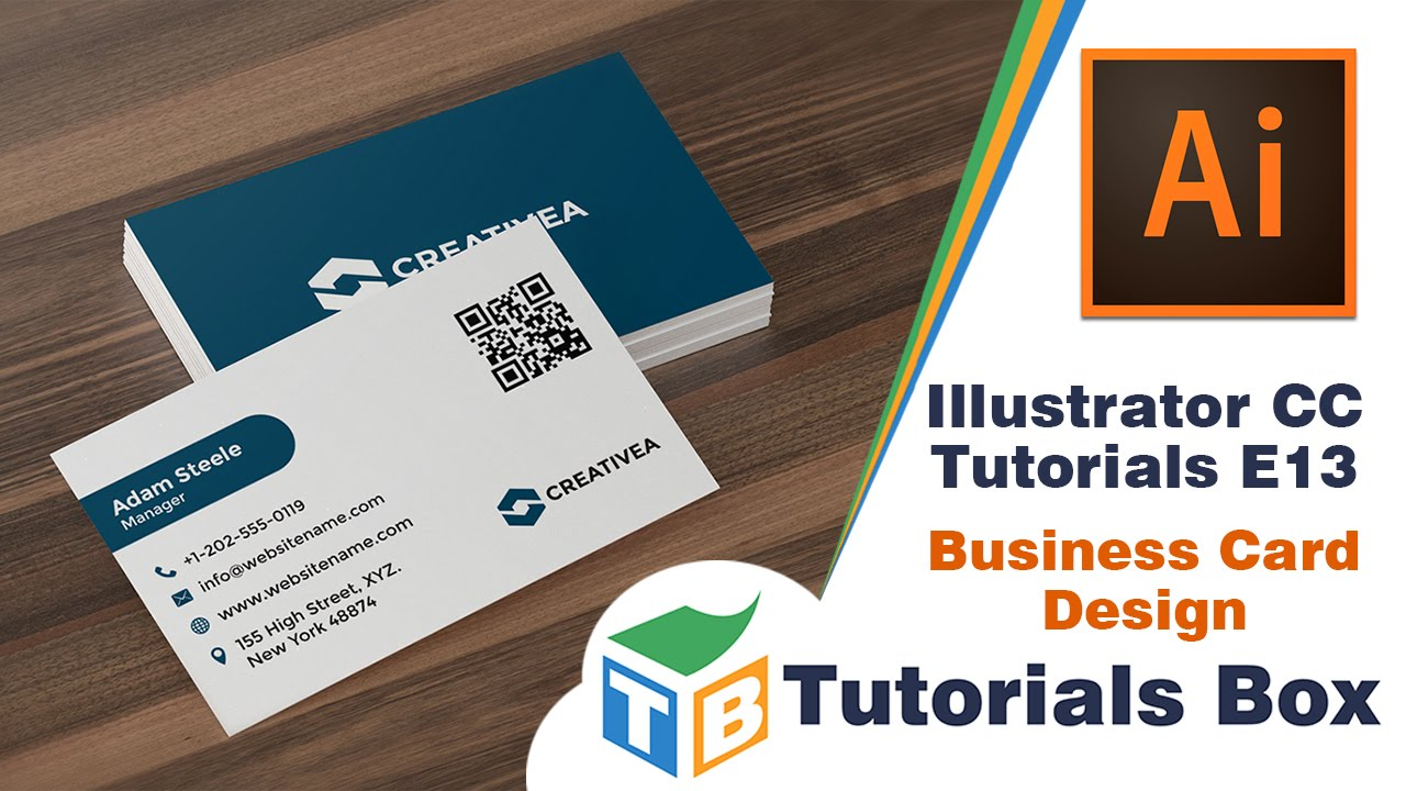Illustrator cc tutorials e13 business card design youtube reheart Choice Image