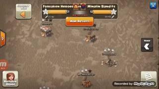 Clash of Clans- Forsaken Heroes War Highlights #8 (vs Minalin Bandits)