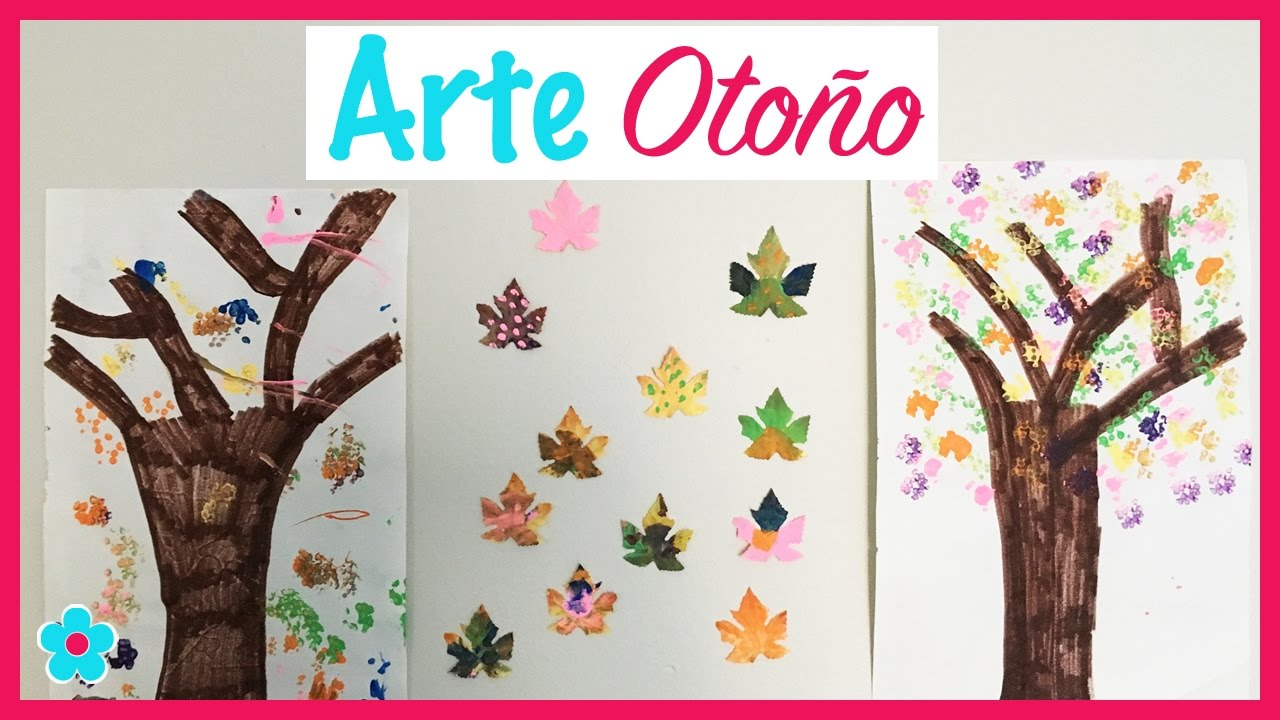 Hoja De Otono Para Colorear Para Para Para Hojas Del Otono: Arte De Otoño- Pintando Y Creando Arboles Y Hojas De Otoño